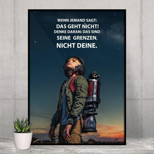 Fotoplakat Motivation Wenn jemand sagt Spruch