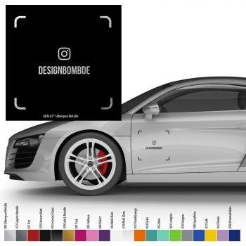 2x Instagram Nametag QR-Code 20x20cm