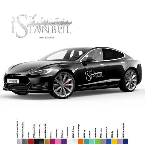 1x Istanbul Silhouette Auto Aufkleber