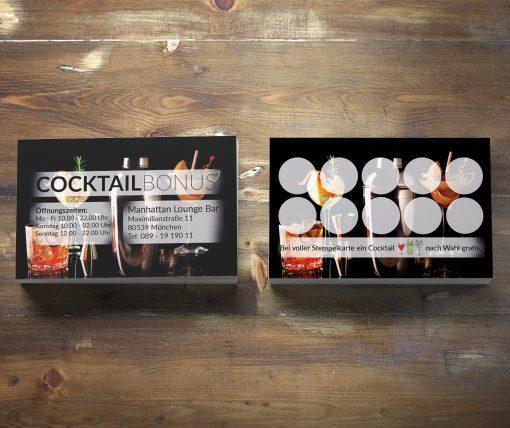 Premium Cocktail Bonuskarte Black-Edition