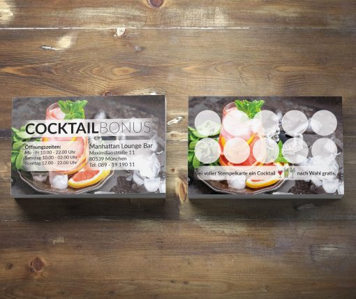 Premium Cocktail Bonuskarte Grapefruit-Minze Edition