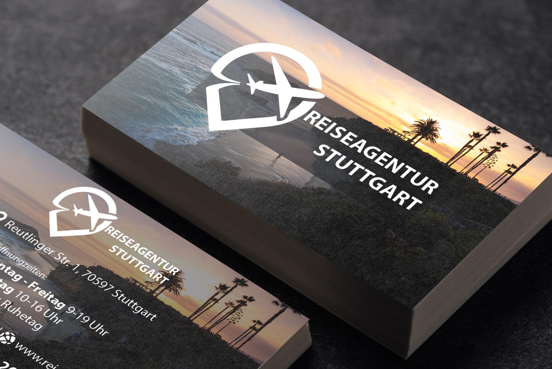 Reiseagentur Reisebüro Visitenkarte