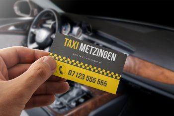 Visitenkarten Taxi- und Fahrdienste