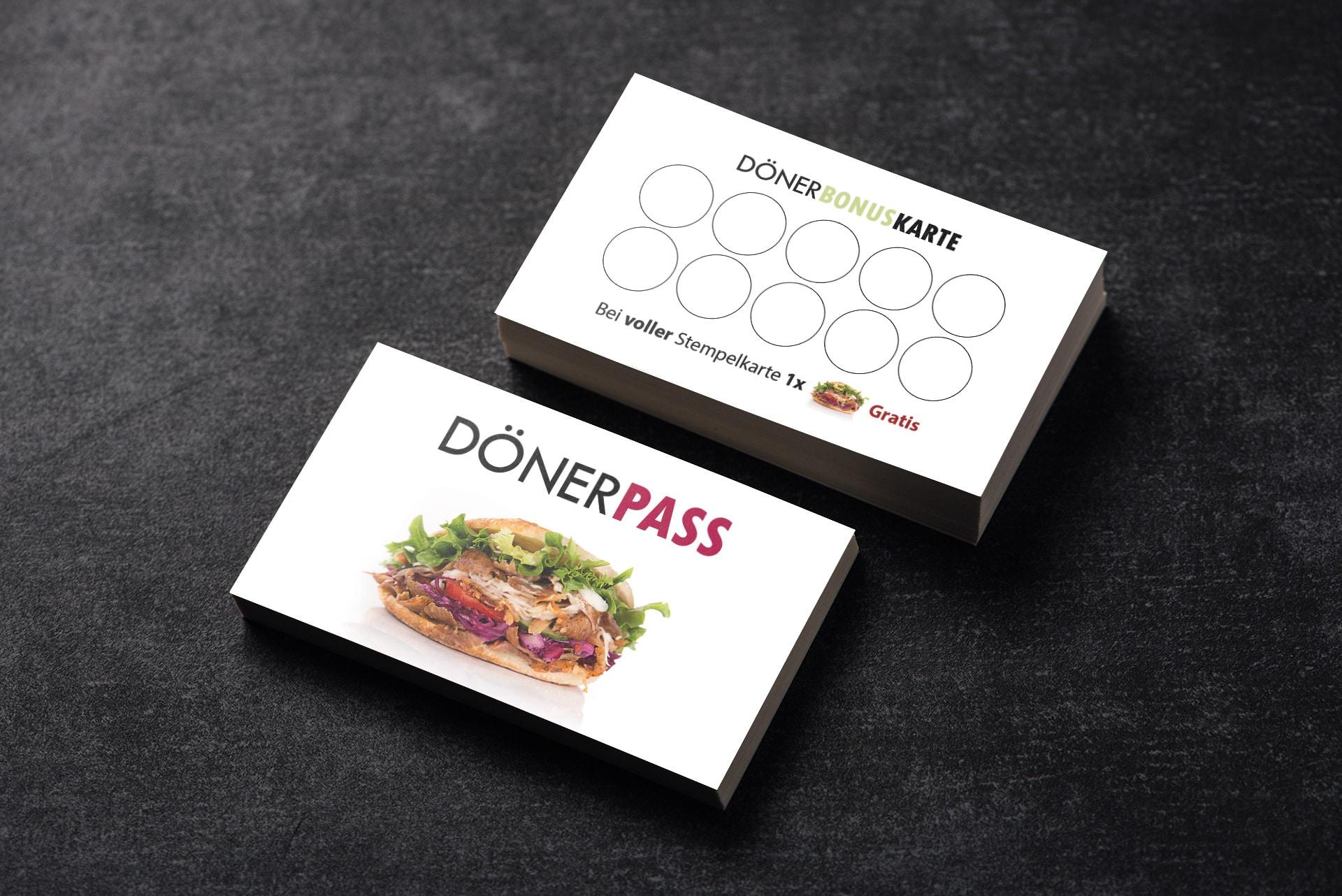 1200 Bonuskarten Treuekarten Döner Kebap Pass Dönerpass #2 Bonuskartenstempel