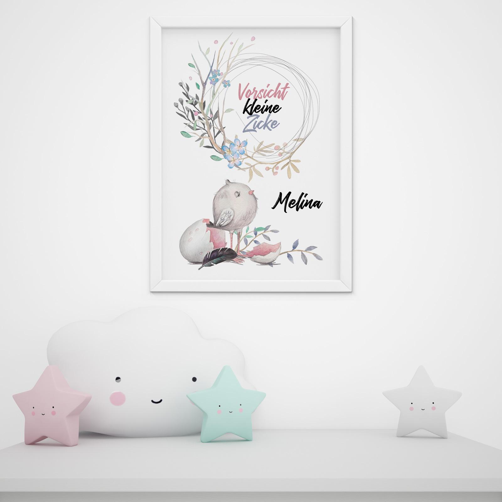 Kinderzimmer Babyzimmer Vorsicht Kleine Zicke A3 Poster Wanddeko ...