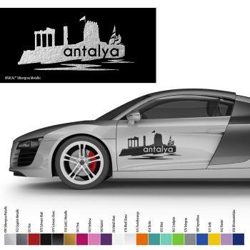 Auto Aufkleber Antalya Silhouette Araba Silueti