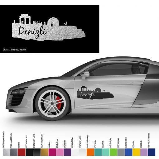 Auto Aufkleber Denizli Silhouette Araba Silueti