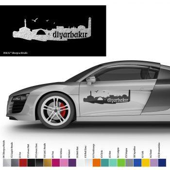 Auto Aufkleber Diyarbakir Silhouette Araba Silueti